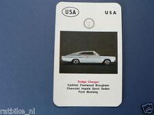 AUTO USA DODGE CHARGER KWARTET KAART, QUARTETT CARD,SPIELKARTE