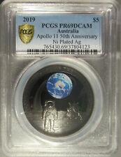 2019 Australia Apollo 11 Anniversary Silver Five Dollar ($5), PCGS PR 69 DCAM
