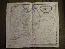 RARE Robert Morden Antique Copper Engraved Map of HUNTINGTONSHIRE