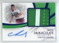 2018-19 HIRVING LOZANO 12/25 AUTO PATCH PANINI IMMACULATE COLLECTION AUTOGRAPHS