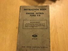 FORD V8 30HP INDUSTRIAL ENGINE OWNERS USERS INSTRUCTION HANDBOOK MANUAL 1942