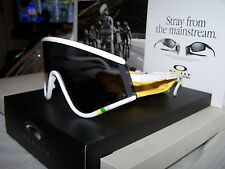 NEW HTF OAKLEY TOUR DE FRANCE EYESHADE WHITE FRAME WITH BLACK IRIDIUM LENS