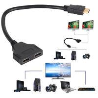 1080P 1 In 2 Out HDMI Male to Female Splitter Verteiler Kabel Konverter Adapter