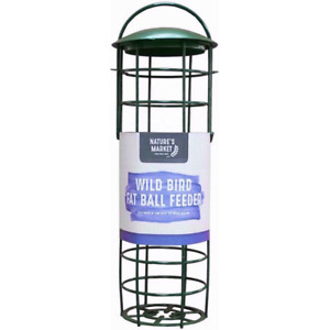 Kingfisher / Natures Market Green Standard Suet Fat Ball Feeder - Bird Feeder
