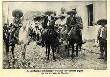 Die mexikanischen Rebellenführer Euphemio und Emiliano Zapata 1912