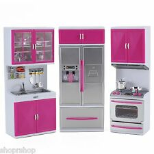 My Modern Kitchen Full Deluxe Kit Battery Operated Kitchen Playset: Refrigerator