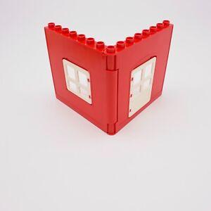 Lego Duplo Red Walls Farm House W/ Window Legoville Vintage 4974 51261 51260
