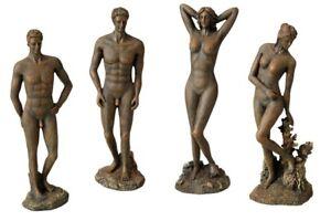4 x Aqua Della Roman Statue 28cm bronze Optik  Aquariendekoration Polyrin