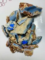 Australian Rough Opal L/R Big Seam Nice Blues & good potential 940ct ww511 Video
