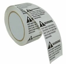 1 Roll 500 Labels 2 x 2 Suffocation Warning Amazon FBA approved Labels/Stickers