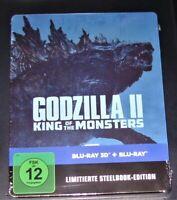 Godzilla II Rey Of The Monstruos Limiiterte steelbook 3D blu ray + Nuevo