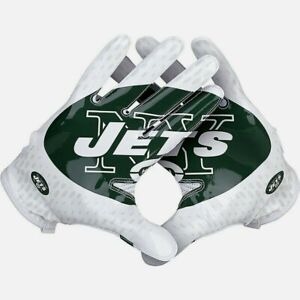MEN'S NIKE NFL NY NEW YORK JETS BACKS AND RECEIVERS Football Gloves M MEDIUM