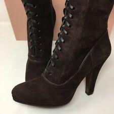 MIU MIU Suede Lace Up Ankle Boots - Brown - UK 6.5/EU 39.5 - £850