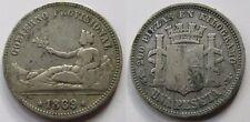 GOBIERNO PROVISIONAL , 1 PESETA DE 1869 . PLATA
