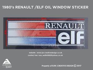 Renault Elf Rear Window Sticker (1980s version) R5, R11, R9, R21, R25, Espace