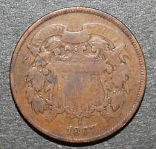 BIG 2 Cent Madness Sale - 1867 US 2 Cent Piece VG