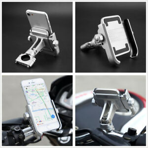 Motorcycle Bicycle Handlebar Phone Holder Aluminum 360 Degree Rotation Anti-slip