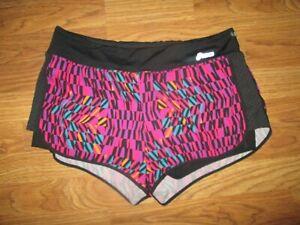 Womens ASICS shorts w/ built n liner L Lg gym running