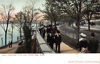 Riverside Park and Drive, Manhattan, New York City, Early Postcard, Unused
