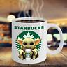 Starbucks Baby Yoda Star Wars Cute Yoda STARBUCKS Fan Coffee 11 Oz-15 Oz Mug
