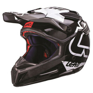 Leatt GPX 5.5 V15 Composite Helmet Black/White Off-Road/MX/ATV/Motocross 1017110