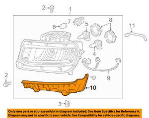 Chevrolet GM OEM 14-15 Camaro Headlamp-Front Lamps-Bracket Right 23187858