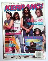 Kerrang 287 APRIL 28 1990 FAITH NO MORE MEGADETH OZZY OSBOURNE MOTORHEAD