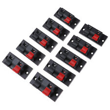 10 Pcs Spring Clip Speaker Terminal Board 2 Ports Binding Post Connector S Aj