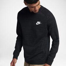 Nike Tech Knit Advance 15 cuello redondo suéter Jumper Negro Tamaño Mediano 861758-010