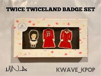 [MINA] TWICE 1ST TOUR TWICELAND ENCORE OFFICIAL GOODS CHARACTER BADGE SET NEW