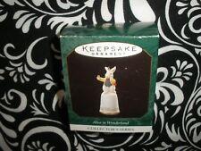 "1997 Christmas! Miniature Hallmark Ornament ""White Rabbit"" #3 Series ~T9064"