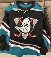 BRAND NEW Adidas NHL Jersey Anaheim Ducks Silver Season 25th Anniversary Size 50