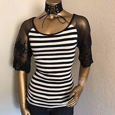 New Fashion Women's STRIPE TOP----M---CUTE!!