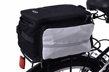 REAR MOUNTED BIKE RACK STORAGE REFLECTIVE PANNIER LUGGAGE INSULATED BAG 28 LITRE