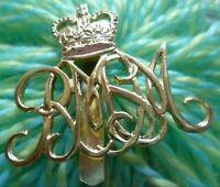 Staybrite Royal Military School of Music Cap Badge QC 2 Slider FIRMIN Anodised