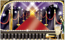 VIP LIMO ARRIVAL Scene Setter HOLLYWOOD party wall decoration 5' red carpet
