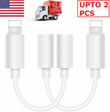 3.5mm Cord Headphone Adapter Jack Lightning Cable  Audio AUX  For iPhone Mobile