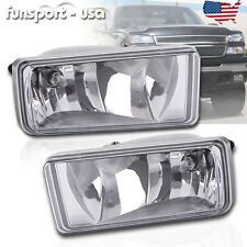 for 07-13 Chevy Silverado 1500 2500 HD Tahoe Clear Bumper Fog Light Lamps PAIR