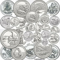 2010- 2015 National Park Quarters SET D 30 Quarters COMPLETE SIX ( 6 ) YEAR SET