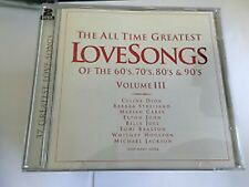 Double CD Album  The All Time Greatest Love Sings Of  60s, 70s,80s & 90s  Vol 3