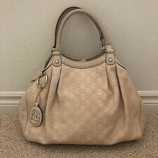 GUCCI Sukey Guccissima Embossed Leather Tote Bag 211944 & Dust Bag - AUTH (5444)