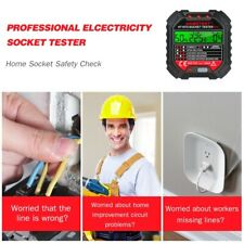 Habotest Automatic Electric Outlet Tester Power Socket Circuit Polarity Voltage