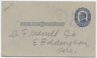 "1912 East Holden Maine handstamp ""15 inset stars"" flag cancel [1461]"