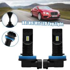 2PCS H11 H8 H9 LED Fog Light Bulbs Car Driving Lamp DRL Brake Light 6500K White