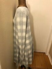 OLD NAVY - GRAY WHITE LONG SLEEVE CHECK DRESS - M