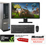 Dell Desktop Gaming PC Bundle i5 19' TFT 4GB 1050 Ti 16GB RAM Computer Win 10