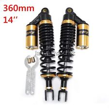 RFY Pair 360mm 14'' Golden Rear Air Shock Absorbers Universal Suspension Damper