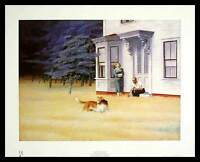Edward Hopper Cape Cod Evening Poster Kunstdruck Bild mit Alu Rahmen 50 x 40 cm