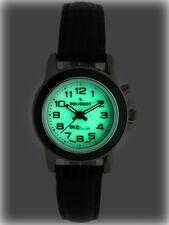 Peugeot Women Glow in Dark Watch w/ Leather Strap & Easy Reader Arabic Numerals