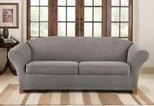 Sure fit Stretch Piqué Three Piece Sofa Slipcover grey